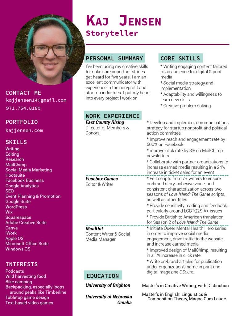 Resume for Kaj Jensen